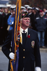 The Ceremonial Flag (tyson_laidler) Tags: ektachrome e100 35mm slide film remembrance day victoria bc canon eos3 kodak