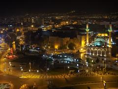 Cumhuriyet (Republic) Square, Kayseri, Turkey (my.travels) Tags: kayseri turkey city night nightphotography square mosque clock tower olympus penf kocasinan tr