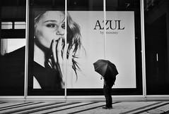 Looking up (reiko_robinami) Tags: street streetphotography rain monochrome blackandwhite yokohama japan oneperson