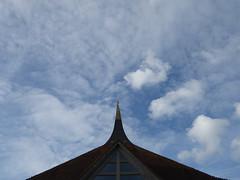 Temple spire and sky (seikinsou) Tags: amaravati england meditation retreat retreatcentre temple spire sky cloud summer midsummer