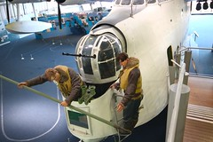 Docking the Sunderland (Keith Coldron) Tags: flyingboat nose turret crew people docking procedure museum