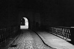Night in Tübingen (manfredkober) Tags: tübingen nacht sw bw schloss kopfsteinpflaster
