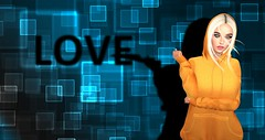 Psychopath (Xan Baran) Tags: 2ndlife secondlife avatar female love shadow blonde foxy hoodie rebelgal orange blue lelutka maitreya glamaffair pinkfuel collar sp saltpepper pose xans aviglam mesh