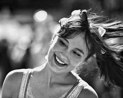 summertime (gro57074@bigpond.net.au) Tags: summertime monotone monochrome mono guyclift dance happy smile december 2018 matsuri sydney woman candidportrait candid bw blackwhite f28 70200mmf28 nikor d850 nikon