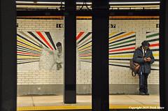 Celia And The Commuter (Trish Mayo) Tags: art subway subwayart subwaytiles mosiacs celieacruz commuter subwaystation 167thstreetstation bronx publicart