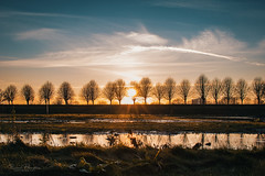 Sunset Brielle (Rico Plooster) Tags: drone dji djimavicpro mavic photography fotografie luchtfotografie luchtfoto aerialview aerialphoto aerial picture dutch thenetherlands sunset zonsondergang brielle denbriel