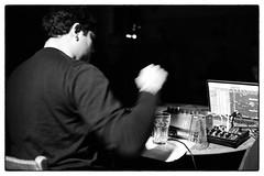 Jürg Frey - Electronics And Loudspeaker Pieces @ Cafe Oto, London, 27th January 2019 (fabiolug) Tags: johnmacedo jürgfrey jurgfrey wandelweiser electronics electronic composer compositions cafeoto london dalston music gig performance concert live livemusic leicammonochrom mmonochrom monochrom leicamonochrom leica leicam rangefinder blackandwhite blackwhite bw monochrome biancoenero voigtlandernoktonclassic35mmf14 voigtlandernokton35mmf14 voigtlander35mmf14 35mm voigtlander hand movement motion laptop