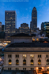 Library 2 (20190127-DSC01540) (Michael.Lee.Pics.NYC) Tags: newyork nypl newyorkpubliclibrary bryantpark gracebuilding 500fifthavenue hotelview parkterracehotel aerial night morning dawn bluehour architecture cityscap sony a7rm2 voigtlanderheliar15mmf45