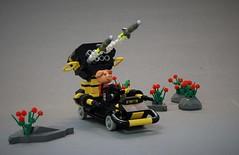 Fabuwars - Piggy Punisher (adde51) Tags: adde51 lego moc fabuland fabuwars car blacktron rocketlauncher missile pig foitsop shooting driving