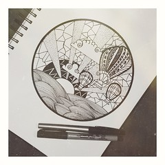 Dibujando emociones... (Sury Dayanna) Tags: beautiful draw beauty art capture magic amazing inspiration zentangle picture drawing emotions solitarywitch eclectic momentos dibujando magia zen dibujo arte goodvibes