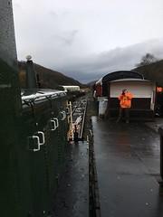 Drivers view from D2207 alongside Levisham Dock 20Nov18