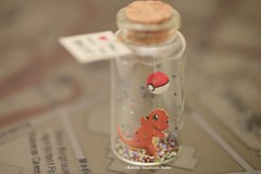 Pokemon,  Charmander, Pokeball, Tiny message in a bottle,Miniatures,Personalised Gift,love,Valentine Card,Gift for her/him,Girlfriend gift, birthday card, message card and funny card ideas (charles fukuyama) Tags: christmas xmascard ornament handmadecard custommade unique cute art homedecor deskdecor lovecard holidaydecor greetingscard paper seasonalcard partygift personalizedgift longdistancegift birthdaygift kikuikestudio clay miniatures cartoons characters christmasdecor