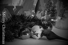 Merry Christmas (tucsontec) Tags: christmas weihnachten weihnachtsschmuck xmas merry weihnachtsfest schwarzweis blackwhite