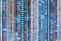 Kowloon Night Owls - The Block Tower (tobyharriman) Tags: 2018 hongkong abstract aerial apartments art blocktower canon china complex drone estates highrise homes housing kowloon living photography pictures population prints publichousing rental residences skyscraper towers