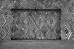 Patterns (OzGFK) Tags: 35mm acros fujineopanacros ricoh ricoh35zf analog blackandwhite film monochrome urban streetphotography sunny architecture building pattern contrast fuji