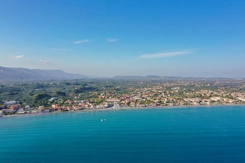 Laganas beach bay Zakynthos Greece