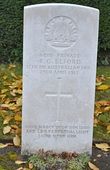 CWGC Private Francis Granville Elford AIF (greentool2002) Tags: cwgc war grave commonwealth graves commission mons community cemetery private francis granville elford aif australian infantry buried bergen communal