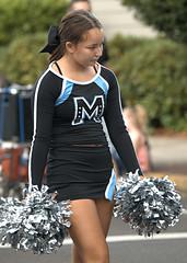 High School Cheerleader (Scott 97006) Tags: girl female cheerleader pompom uniform highschool parade