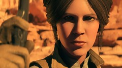 Adventurer: Sensing Danger (Anofelah) Tags: leia organa carrie fischer portrait geonosis trippa hive battlefront frostbite dice star wars photo lighting face girl depth color adventurer anoh