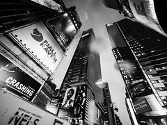 Hard Rain (C@mera M@n) Tags: manhattan ny nyc newyork newyorkcity newyorkphotography place places rain timessquare urban buldings outdoors