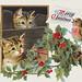 Cats Christmas card design
