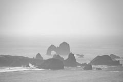 Mack Arch (amarilloladi) Tags: mackarch oregon oregoncoast ocean pacificocean oregoncoastline foggy fog sea seascapes seastacks reefs blackandwhite bw monochrome arches