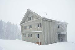 Farmhouse (HeiAld) Tags: holzhaus toggenburg swiss switzerland schweiz bauernhaus snow schneefall schneegest schneegestöber winter winterzeit
