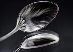Teaspoon Collecting (Helen Orozco) Tags: macromondays hobby hmm teaspoon collections silverspoon reedandbarton macro reflection demitasse texture vintage