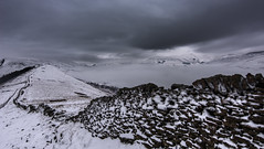 Great ridge (Phil-Gregory) Tags: nikon d7200 tokina1120mmatx tokina wideangle ultrawide peakdistrict greatridge mamtor losehill snow inversion morning whiteout scenicsnotjustlandscapes ngc landscapes derbyshire hopevalley edale stonewall lowcloud cloudscape clouds grim moody