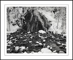Winter Cascade (rspohl17) Tags: jasper alberta canada nationalpark jaspernationalpark maligne canyon cascade waterfall winter snow ice film largeformat 4x5 kodaktmax tmx100 perceptol analog silver
