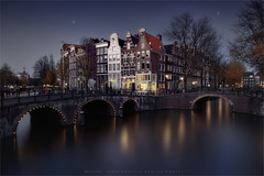 Amsterdam (Marijke M2011) Tags: amsterdam atmosphere night water canon canals urbanlandscape bridges marijkemooyphotography tourism touristic moody