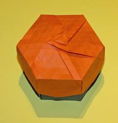 Pyramid field tessellation box (mganans) Tags: origami tessellation box