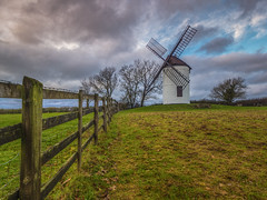 Silence in the Air (Wizard CG) Tags: ashton windmill somerset england english heritage grade ii listed building 18th century sunset sky chapel allerton epl7 trees warm beautiful earth outdoor grass plant wedmore countryside green blue four sails fence rickety bank