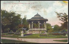 c. 1909 E.P. Charlton Postcard - Band Stand in Public Gardens, Halifax, Nova Scotia (front) (Treasures from the Past) Tags: postcard publicgardens bandstand halifax novascotia canada