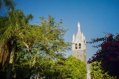 Sine Tower (Schwantes (Analog Photography)) Tags: kodak proimage 100 caravaggio sine tower lomo lca iso100 farroupilha riograndedosul brazil brasil lomography analog sky campanário blue bluesky