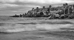 Gooseberry Falls Pier (Paul Domsten) Tags: lakesuperior gooseberryfalls statepark pentax blackandwhite monotone biglake waves water ice pier minnesota northshore mono art