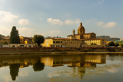 Chiesa di San Frediano, Florence (rosswilliams_1988) Tags: firenze florence italy toscana tuscany river reflection sky clouds trees church city