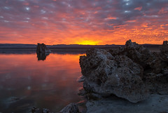 20140123_mono_lake_006 (petamini_pix) Tags: monolake california tufa sunrise lake reflection sky dramaticsky colorful beautifulsunrise clouds landscape water