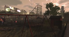 the forgotten fairground (isabelverlack) Tags: park secondlife rollercoaster