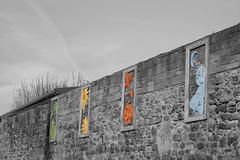 Hendon Wall (oddbodd13) Tags: hendon sunderland wall art sculpture publicart coloursplash red green blue yellow brick brickwork