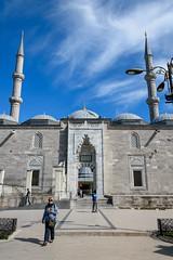 Fatih Mosque (djcotto1971) Tags: istanbul turkey bosphor europe asia mosque religion religious islam muslim constantinople carigrad minaret blue sky clouds dome nikon nikkor d5500 camii mehmedtheconqueror ottoman sultan aliqushji byzantine church atik sinan medrese