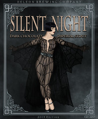 Silent Night Imperial Stout, 2019 Edition (.sanden.) Tags: art poster text person sign fashion albumcover clothing illustration costumedesign dress darkness novel retro cloak style woman performer cape vintage sculpture glamour theater statue adult portrait shoe footwear gown beerlabel sanden pinup beautiful shorthair black