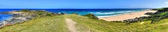 Beach vista in early summer II (elphweb) Tags: fhdr falsehdr pseudohdr nsw australia coast coastal beach ocean water sea waves surf panorama