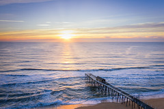 Belmar Fishing Pier Aerial Sunrise (Mike Ver Sprill - Milky Way Mike) Tags: belmar fishing pier new jersey nj aerial sunrise sunset beautiful sun rays water ocean seascape sea morning early mavic pro 2 drone