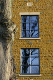blue reflection (bejem) Tags: tree newbuild apartments windows reflection blue 2017 stonework explored9119