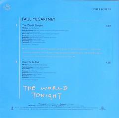 McCartney, Paul - The World Tonight - Picture Disc - UK - 1997-- (Affendaddy) Tags: vinylsingles picturedisc paulmccartney theworldtonight parlophone uk 1997 20thcenturyukrockpop