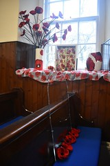 Cumbernauld Old Parish Church, Remembrance Day 2018 (luckypenguin) Tags: scotland northlanarkshire cumbernauld cumbernauldvillage remembrance remembranceday armisticeday armistice100 poppies cumbernauldoldparishchurch churchofscotland church therebutnotthere silhouette