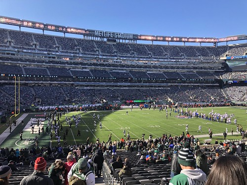 At MetLife Stadium for the Buffalo Bills/New York Jets football game