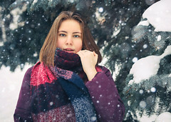 Winter (svklimkin) Tags: girl winter forest snow weather frost portrait russia people canon mark svklimkin