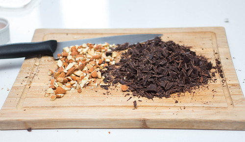 Cutting Board with Chocolate and Nuts